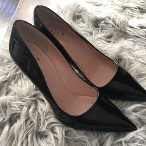 Kate Spade Licorice Patent Leather Black Pump Sz 7